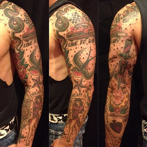 Traditional Americana sleeve