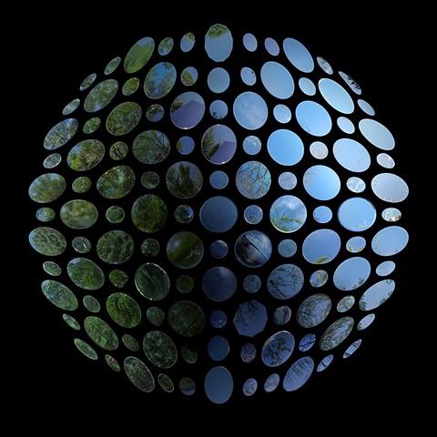 Laura Mackin J. G. Ballard The Crystal World mirrors found appropriation art Dionys Burger Sphereland