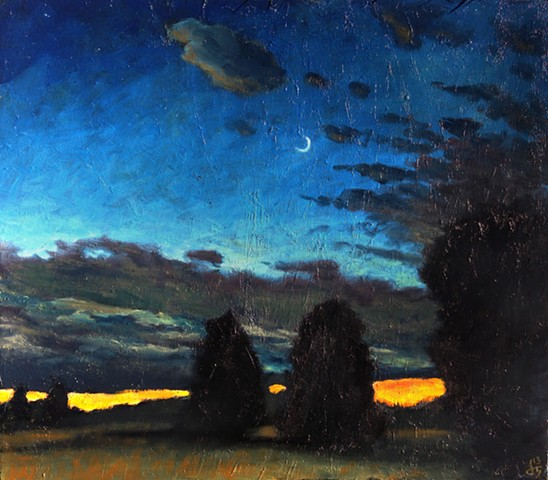 Moon After the Storm - SOLD
