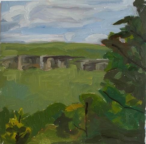 plein air landscape oil painting