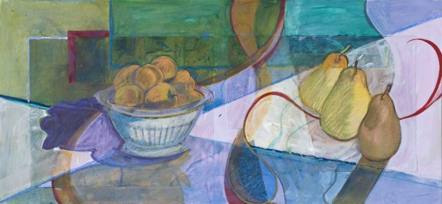 mixed materials, collage, work on paper, still life, narrative
