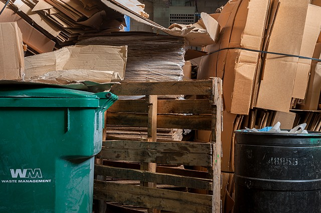 trash & recycled corrugated, 1-4-14