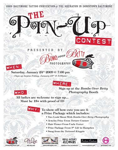 The Pin-Up Contest flyer
