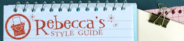 Rebecca's Style Guide Blog Banner