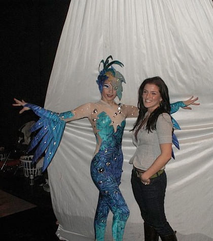 dew drops and leaves - backstage with the performer!