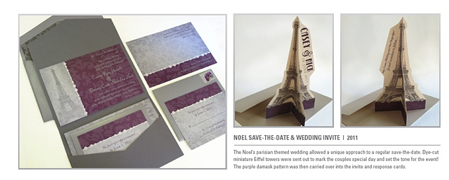 Noel save-the-date & wedding invite