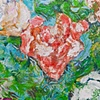 Roses in a Red Vase (detail)