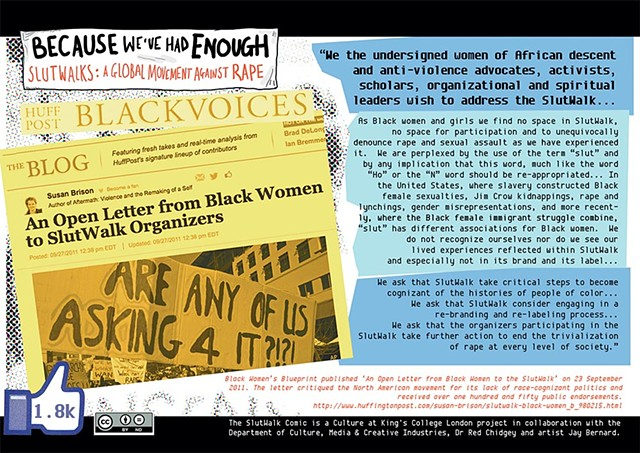 Slutwalk Postcard: Black Women Open Letter