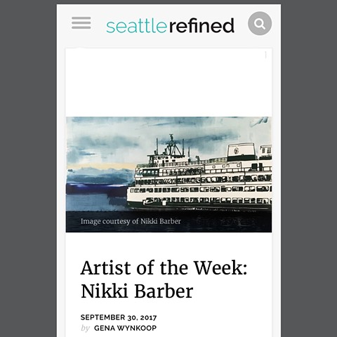 Artist of the Week Feature on Seattle Refined