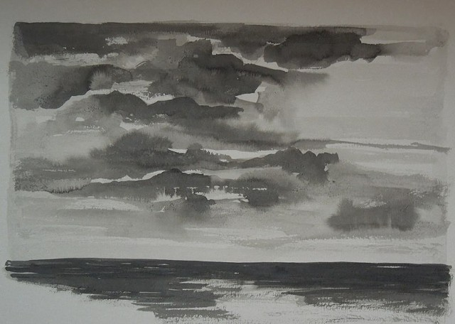Cloud Study in Ink