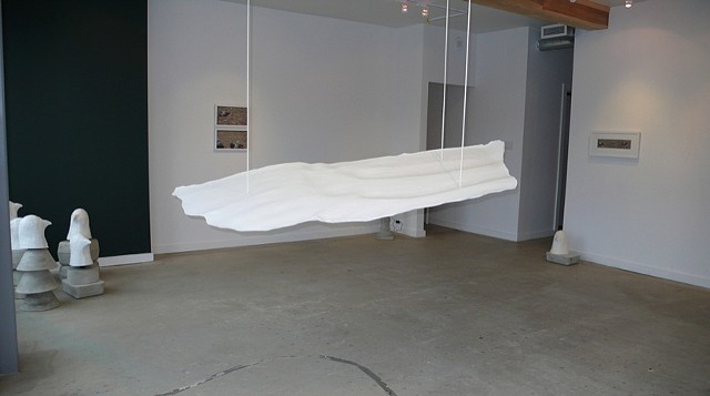Wing, 2007 (plaster, rope)