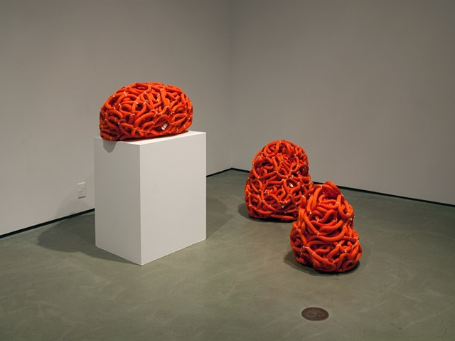 KLUMPUR I, II, III, 2014 (Polypropylene rope, cable ties)
