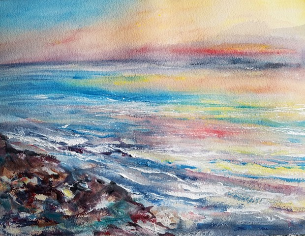 Blissful Waves, inspired while walking along the shoreline in Malibu