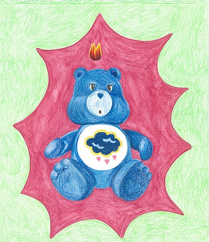 Untitled, (Blue Care Bear)