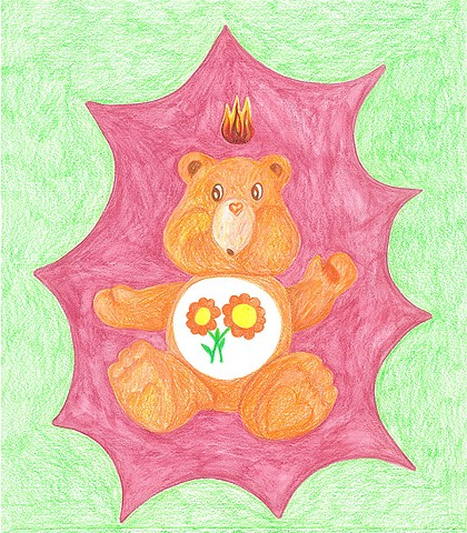 Untitled, (Orange Care Bear)