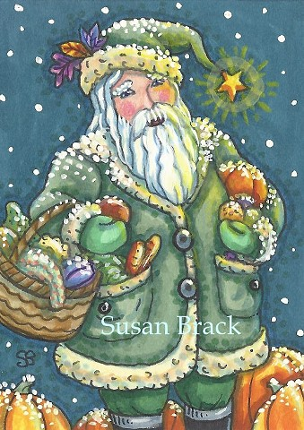 St. Nick Santa Claus Belsnickle Christmas Susan Brack Original Art Illustration ACEO EBSQ