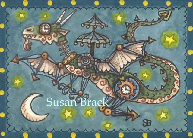 Steampunk Steam Punk Dragon Medieval Susan Brack Art Artist Fantasy EBSQ