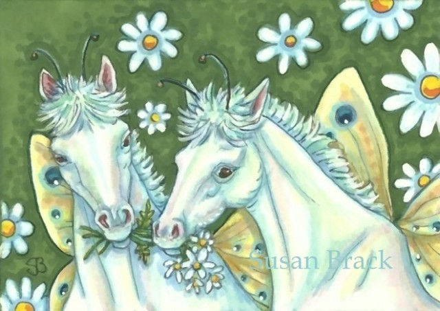Fairy Fantasy Filly Horse Pony Susan Brack Art Illustration License Equine ACEO EBSQ