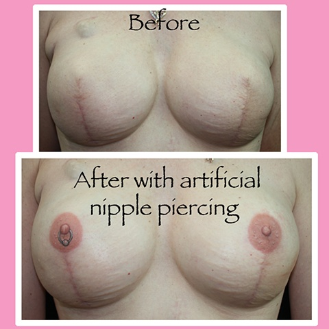 Fall with artificial piercing