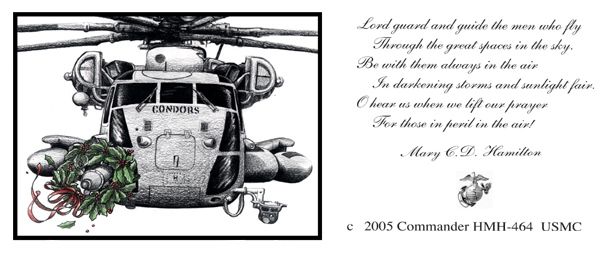 Christmas card created for HMH-464 USMC