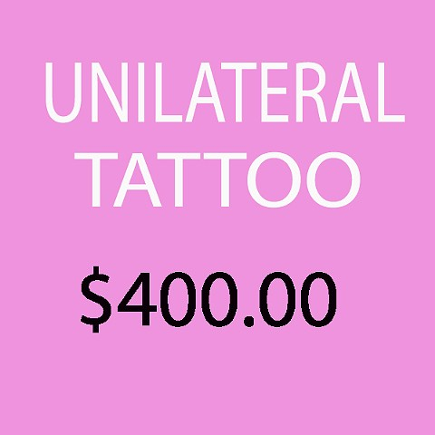 Unilateral tattoo