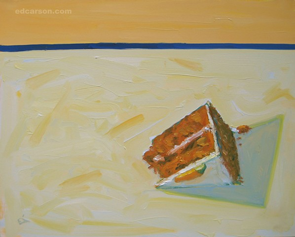 Carrot Cake With Blue Stripe