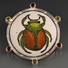 Japanese Beetle Brooch