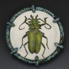 Green Beetle Brooch