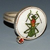 Enameled Insect Rings