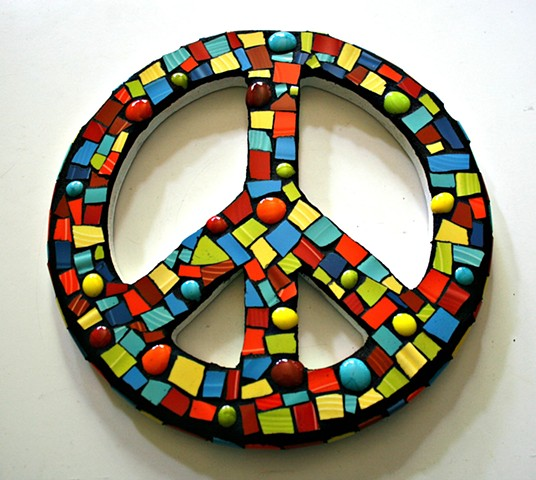 Fiestaware Mosaic Peace Sign