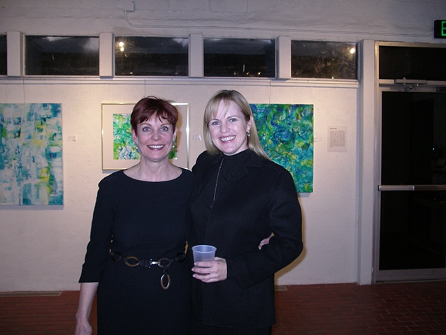 Ashley Brown with the artist, WaterSongs Show 2010