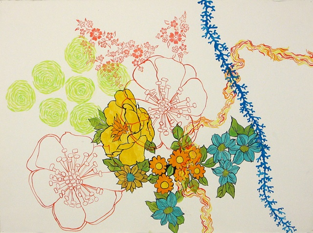Florilegium Series #2 (sempervivum chaenomeles toyo-nishiki madreporaria klema)