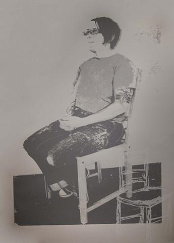 now chairs print (self Portrait)