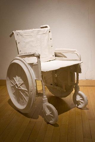 detail of wheel chair