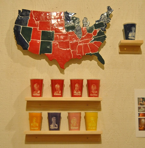 Map and cups