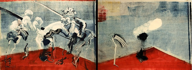 (Red/Blue Diptych) Untitled