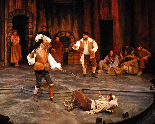 San Diego Cygnet Theatre's production of Man of La Mancha, directed by Sean Murray, set design by Sean Fanning, Sean Fanning scenic design