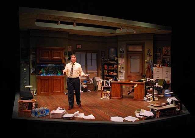 "Sean Fanning Set Design, Sean Fanning Scenic Design, San Diego, Cygnet Theatre, ""Mistakes Were Made"" by Craig Wright.  Directed by Shana Wride, Set Design by Sean Fanning."