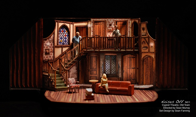 Noises Off set design by Sean Fanning