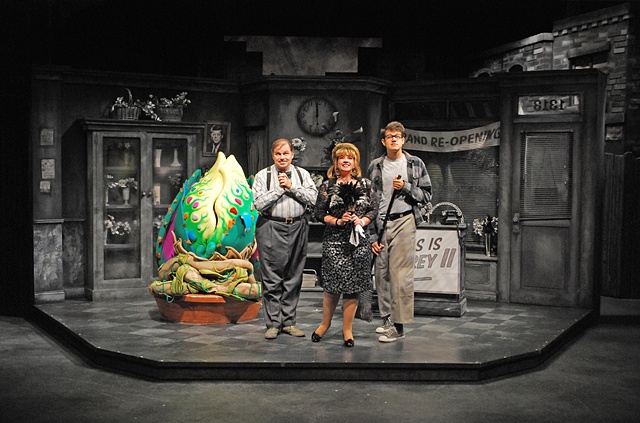 "Cygnet Theatre's ""Little Shop of Horrors"", directed by Sean Murray, Set Design by Sean Fanning"