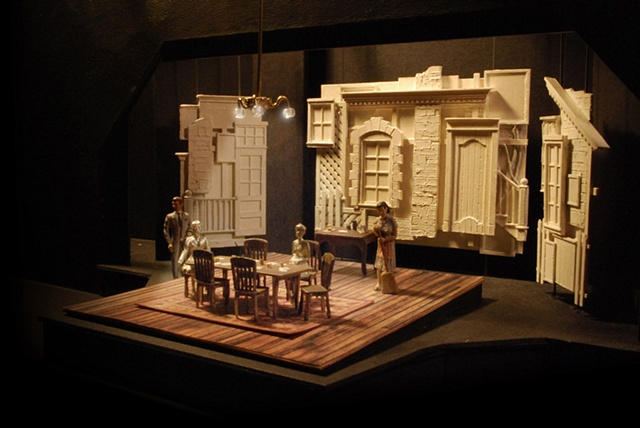 The Norman Conquests set design by Sean Fanning