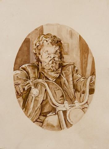 The Biker after Peter Paul Rubens's Head of a Satyr