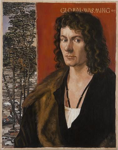 Global Warming after Albrecht Durer's Portrait of Oswolt Krel