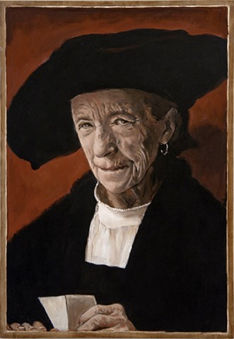 Portrait of Louise Bourgeois after Durer's Portrait of Bernhard von Reesen