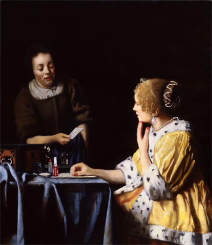 Woman with a Maid, Restored