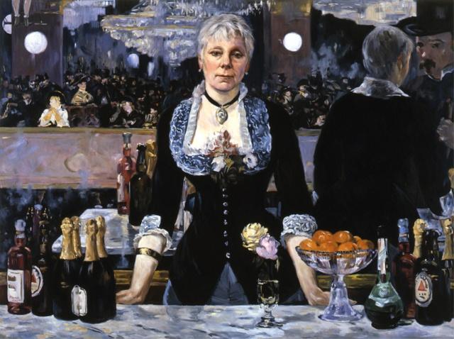 Linda Nochlin at the Bar at the Folies Bergere