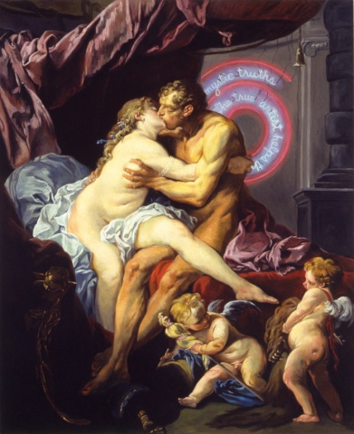 Hercules & Omphalo, Restored