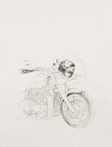 The Biker after Matthias Grünewald's Head of a Shouting Man