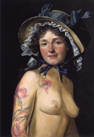Portrait of Madame Pierce Seriziat (Sister of Madame David), Restored