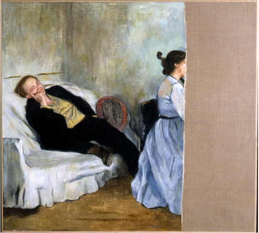 Robert Storr and his Wife (Rosamund Morley) as Degas' Portrait of Manet and his Wife